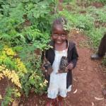 moringa tree and cute girl