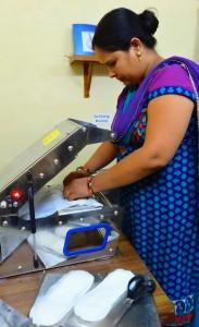 women using pad machine for EWP